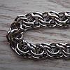 Серебряная мужская цепочка, 550мм, 37 грамм, плетение Бисмарк московский, фото 2
