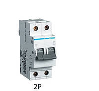 Автоматический выключатель HAGER In=1 А, 2п, С, 6 kA(двухполюсный)