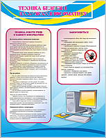 Стенд Техніка безпеки на уроках інфоматики (70421)