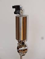 Заслонка баттерфляй нержавеющая DIN11850 с пневмоприводом DN100
