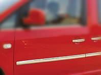Накладки на молдинг двери на Фольцваген Кади с 2004> (нерж) OMCARLINE.