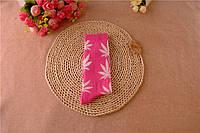Носки HUF plantlife, розовые с белым листом конопли Д11, фото 1