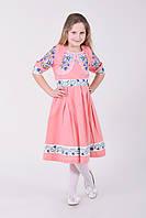 Розовое платье в полевые цветы
