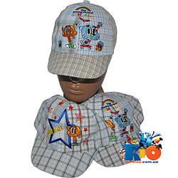 Детская летняя кепка арт.1338 (липучка) , для  мальчика (р-р 48-50)