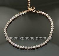 Яркий браслет с кристаллом Swarovski, покрытый золотом (700800)