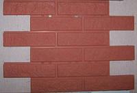 Формы для производства фасадной плитки «Кирпич рваный» глянцевые пластиковые, фото 1
