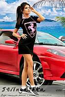 Спортивное платье Ferrari черное
