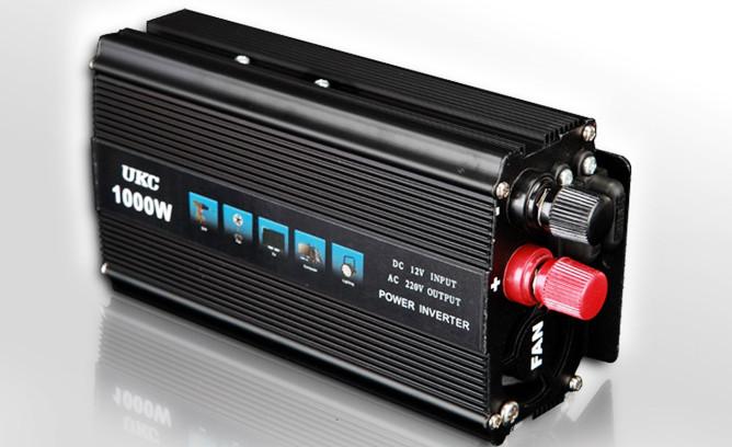 Автомобильный преобразователь напряжения UKC 12V-220V 1000W инвертор AC/DC 1000Вт SSK в коробке