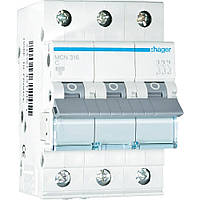 Автоматический выключатель HAGER In=6 А, 3п, С, 6 kA(трехлюсный)