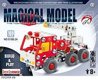 Конструктор металлический Пожарная машина 816B-24 , 169 деталей
