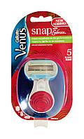 Женская мини бритва со сменной кассетой Gillette Venus Snap Embrace в компактном футляре - 1 шт.