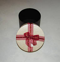 Коробка круглая мал. красный
