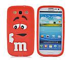 Чехол M&M's для Samsung Galaxy S3 I9300 малиновый, фото 3
