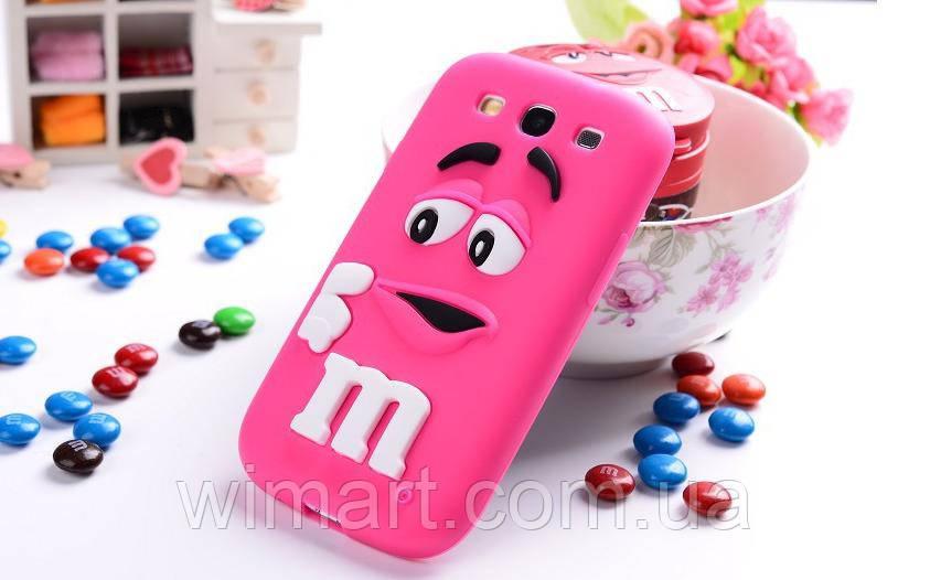 Чехол M&M's для Samsung Galaxy S3 I9300 малиновый