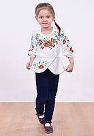 Вышитая блуза с баской для девочки