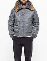 Куртка парка N-2B Alpha Industries (вороненый метал)