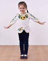 Нарядная вышитая блуза в подсолнухи, фото 1