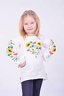 Детская блуза-туника с широкими рукавами