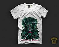 Мужская летняя футболка ( поло ) Morning Star Fresh Blood ( с принтом ) ( белая )