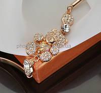 Милый браслет с кристаллами Swarovski, покрытый золотом (703081)