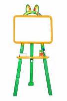 Мольберт для рисования магнитный (для мела и маркера), желто-зеленый, 013777/2