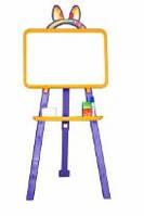 Мольберт для рисования магнитный (для мела и маркера), желто-фиолетовый, 013777/4