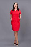 Красное платье из новой коллекции