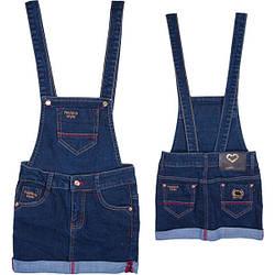 Модный джинсовый сарафан для девочек