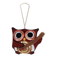 Набор для вышивки бисером и пайетками декоративной игрушки ТН-0724. СОВА
