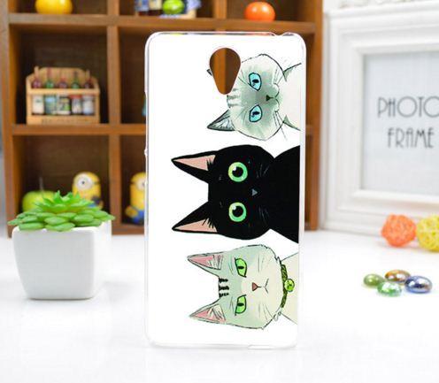 Силиконовый чехол накладка для Xiaomi Redmi Note 2 с картинкой три кота