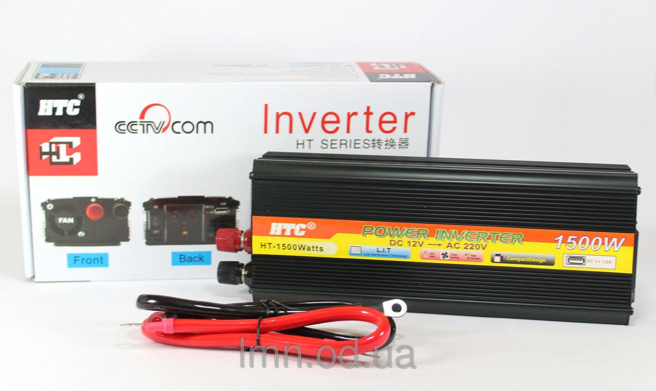 Автомобильный преобразователь напряжения 12V-220V 1500W SSK UKC - EH инвертор в коробке