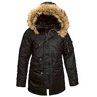 Женская куртка аляска N-3B W Parka Alpha Industries (черная)