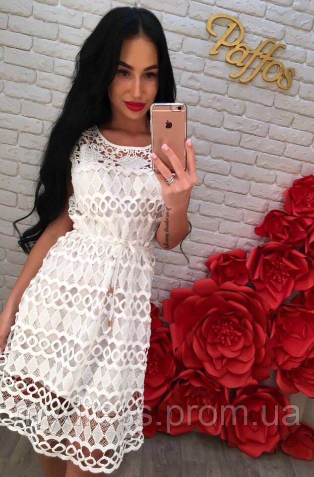 3457f2554ab Летнее хб платье крупное кружево  продажа