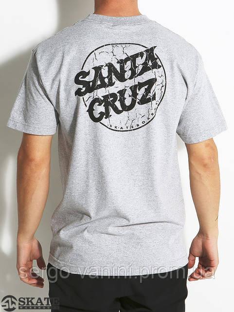 Футболка для мужиков с принтом Santa Cruz Cracked Dot