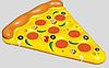 Надувной матрац-пицца