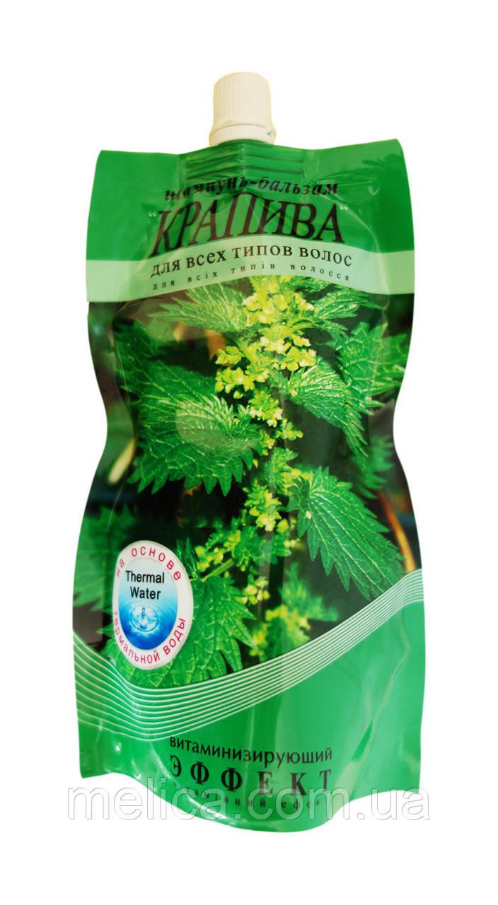 Шампунь-бальзам Эффект Крапива витаминизирующий Дой пак - 270 мл.