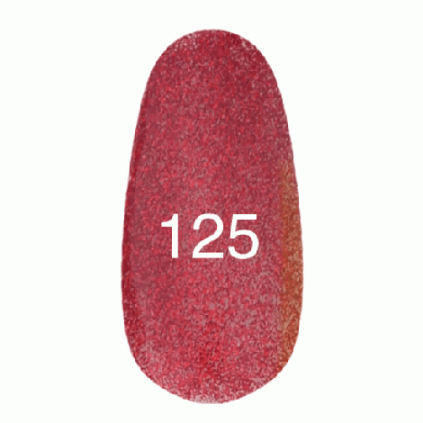 Kodi Professional Гель лак №125 Красный с плотным блеском 8мл