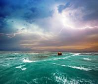 "Фотообои ""Гроза на море"", Фактурная текстура (холст, иней, декоративная штукатурка)"