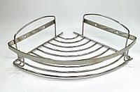 Полочка нержавейка одинарная угловая сетка 20 х 20
