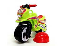 Каталка Мотоцикл с каской Киндервей 11-007