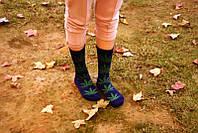 Носки HUF plantlife, фиолетовые с зелёным листом конопли Д28, фото 1