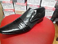 Летние мужские кожаные туфли  МИДА13603 черн. 45 размер.