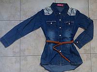 Джинсова сорочка туніка 8-16 років для дівчинки S&D, фото 1