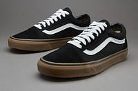 Мужские кеды  Vans Old Skool Black/Medium Gum(ТОП РЕПЛИКА ААА+)