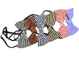 Повязка на голову для греческой прически с косичкой с бантиком