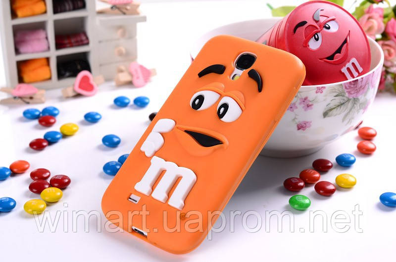 Чехол M&M's для Samsung Galaxy S4 I9500 оранжевый