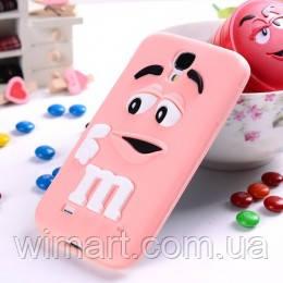 Чехол M&M's для Samsung Galaxy S4 I9500 розовый