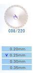 C08/220/0.25 диски алм.двухст.