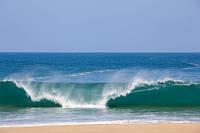 """Фотообои """"Волны на море"""", Фактурная текстура (холст, иней, декоративная штукатурка)"""