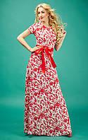 Длинное летнее платье из шифона